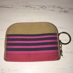 Brahmin RARE Canvas & Leather Zip Wallet